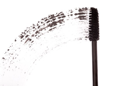 touch base: Brush for applying mascara on a white background Stock Photo