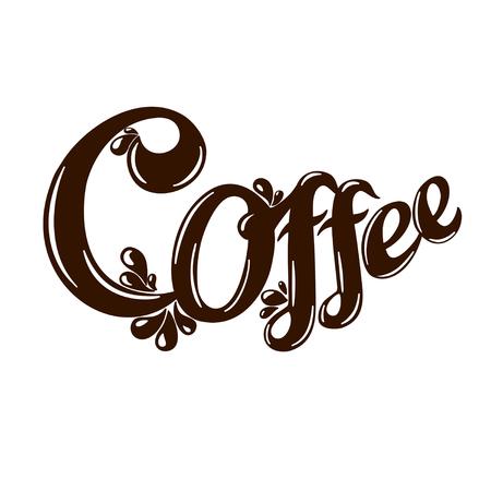 Letter logo coffee isolated on white background. Illustration