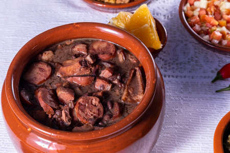 Feijoada, the Brazilian cuisine tradition and typical food.