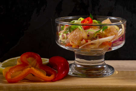 Seafood ceviche, typical dish from Peru.