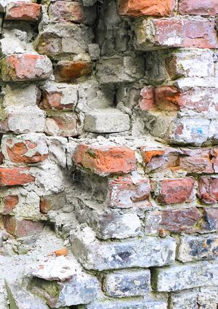 dilapidated: Dilapidated, old brickwork.