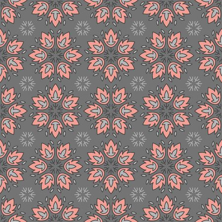 Vector seamless geometric pattern in pink. Simple abstract shape made into repeat. Great for background, wallpaper, wrapping paper, packaging, fashion. Stock Illustratie