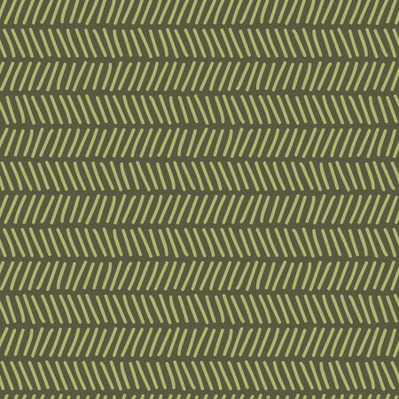 Vector seamless texture christmas pattern in green. Simple doodle herringbone repeat like a tree branch. Great for background, wallpaper, wrapping paper, packaging.