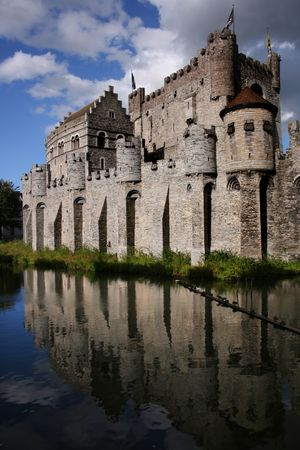 Ghent castle close to the river Stock Photo - 3800177