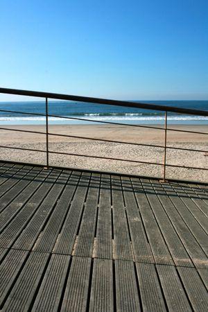 Iron handrail of a Mediterranean beach Stock Photo - 3828631