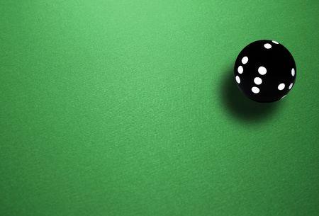 spheric: Isolated spheric ball black dice