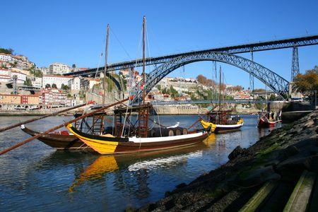Brige over the douro river in Portugal photo