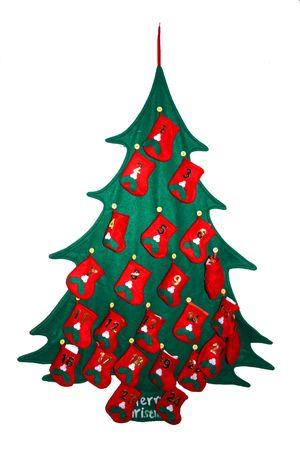 isolate presents tree as a december calendar