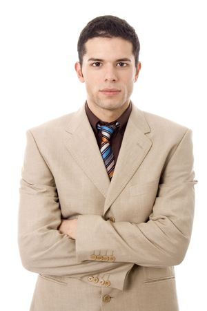 young business man white isolate photo