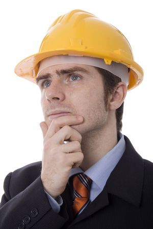 young business man white isolate Stock Photo