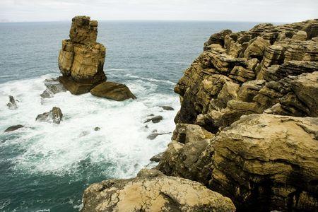 Rock sea coast beautiful edges photo