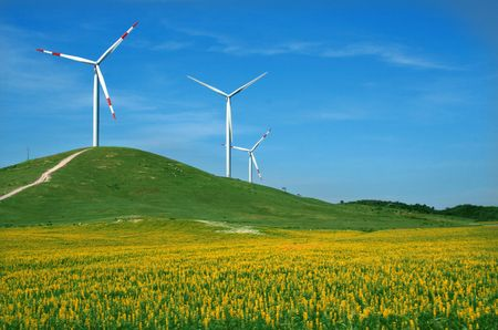 eolic: eolic energy field with windmills