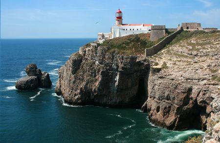 lighthouse on a rock coast