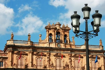 Details of the most famous places of Salamanca Stock Photo