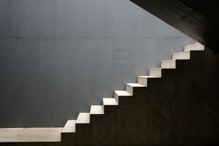 concrete form: isolate stairs outdoor of a modern building Stock Photo