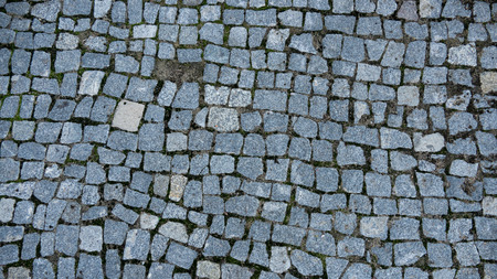 road surface: The old road from a granite
