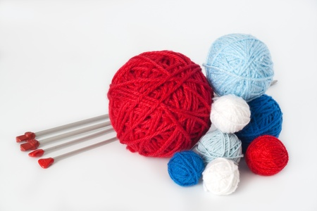 Balls of yarn for knitting Stok Fotoğraf