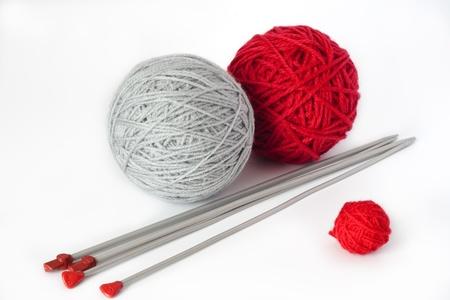 gomitoli di lana: Palle di filato per maglieria Archivio Fotografico