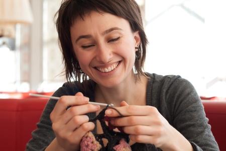 Young girl crochet