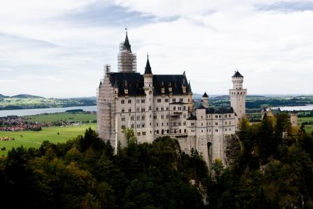 neuschwanstein: Neuschwanstein Castle in southwest Bavaria, Germany
