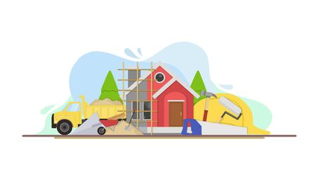 Home Renovation Concept Vector Illustration, Banner, Background, Card, Book Illustration, And Web Landing Page