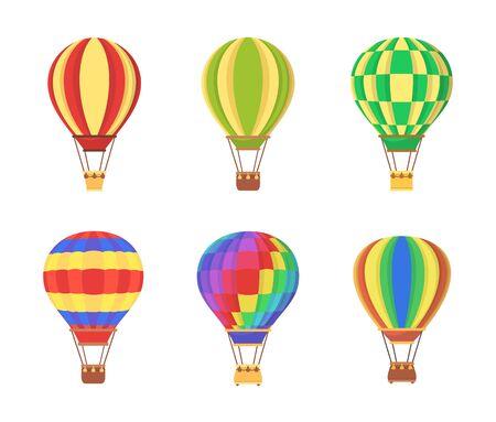 Air Balloon Set Clip Art vector illustration