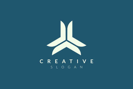 Three angle logo design. The minimalist and modern vector design is suitable for the community, business, and product brands in the industry.