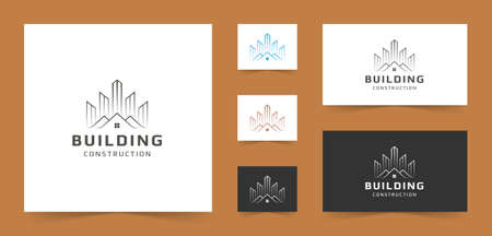Luxury logo for construction, real estate, mortgage, property businesses.