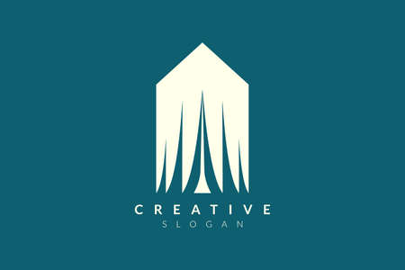 Elegant and fashionable tent style logo design. Minimalist and modern vector illustration design suitable for business and brands.