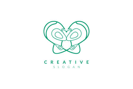 Vector illustration of pelvic bone shape design. Minimalist and simple logo, flat style, modern icon and symbol
