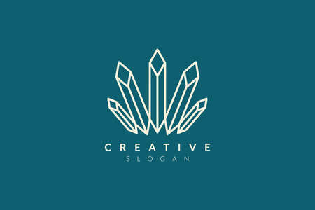 Long diamond beam logo design. Minimalist and modern vector illustration design suitable for business and brands.