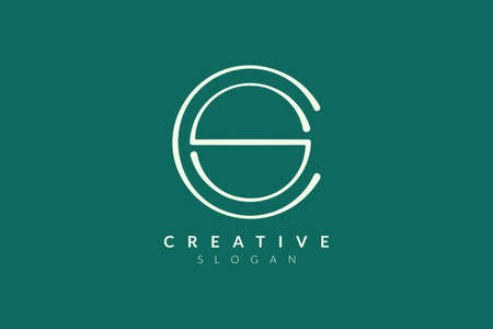 Design a combination of letters C and S elegant. Simple and modern logo vector design for products and businesses in spas, hotels, beauty, health, fashion, cosmetics, boutiques, salons, yoga, therapy.