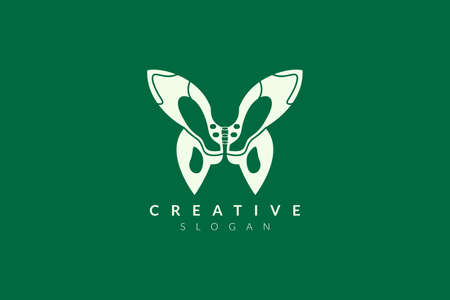 Logo design of the pelvis with a butterfly shape. Minimalist and modern vector illustration design suitable for business or healthcare brands. Çizim