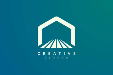 Stage logo design. Minimalist and modern vector illustration design suitable for community, business, and product brands. Ilustração