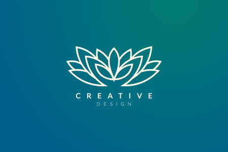 Minimalist flower vector design. It is suitable for spas, hotels, beauty, health, fashion, cosmetics, boutiques, salons, yoga, therapy, and others.