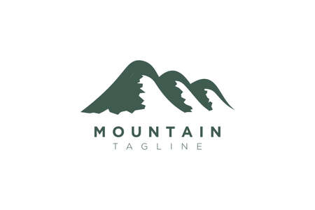 Minimalist and simple mountain vector design. Template for icon, logo, label, brand for business.