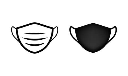 Medical face shield mask icon. Isolated vector icon on a white background Illusztráció