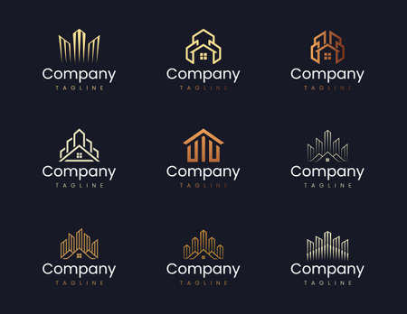 Building and construction logo design template. Graphic elements suitable for corporate branding