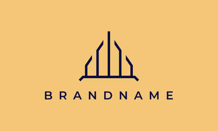 Property logo template with simple and luxurious Ilustracja