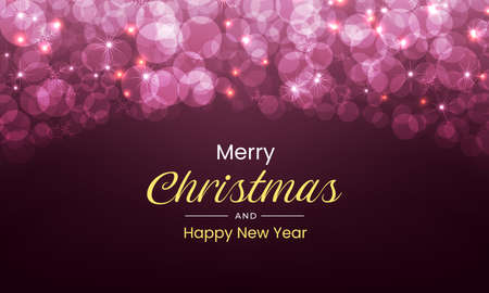Merry Christmas and New Year design with luxurious and sparkling feel