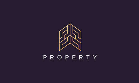logo design template for a luxury and classy property company with a professional and modern style