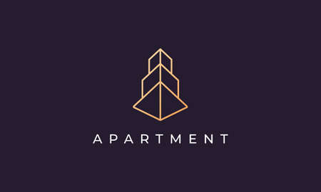 Abstract logo design for luxury and high-class apartment rental in a simple and modern style