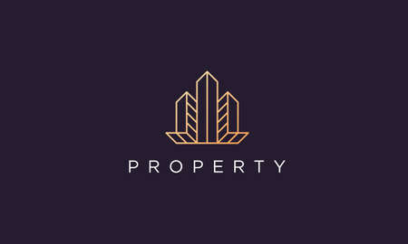 luxury and classy logo design for real estate agent in a simple and modern style