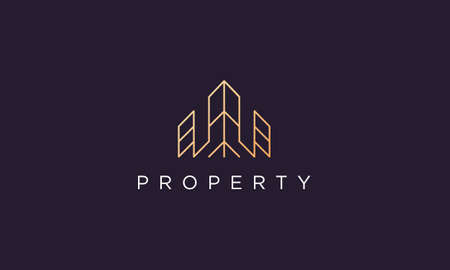 luxury and classy real estate property logo design in a simple and modern style