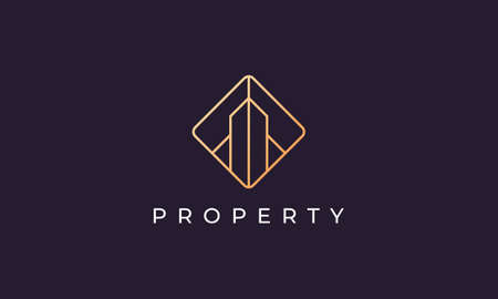 Logo design for a luxury and classy property sale business with a simple and modern style
