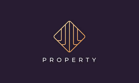logo design for luxury and classy apartment rental agency in a simple and modern style