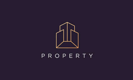 luxury and classy real estate property logo design in a professional and modern style