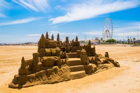 Sandcastle Valencia Фото со стока