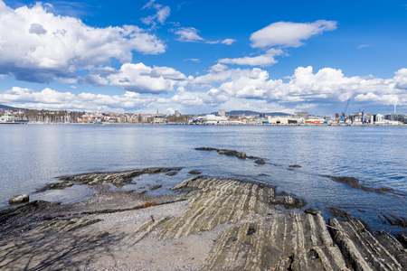 Panoramic view of Oslo from the Bygdoy peninsula. Norway