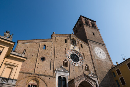 Beautiful view of cathedral facade, Lodi, Italy